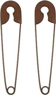 YIYA 2PCS Épingles De Sécurité en Métal Décor Épingles De Sécurité Rustiques Mur Art Décor pour Bureau Rustique Ferme Déco...