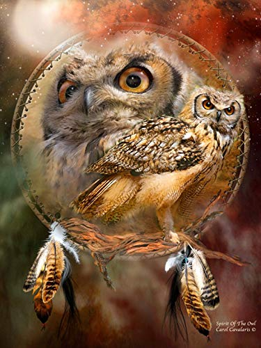 Iyyuor Spirit of The Owl 3D Christmas Diamond Painting Kit 5D DIY Paint by Diamonds for Kids Full Diamond Art Craft for Home Decor Activities for Beginners(Square 40x60cm)