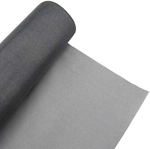 HYISHION Insektenschutz Gaze - Fliegengitter - Schutz gegen Mücken - Durchsichtiges Fiberglasgewebe, UV-beständig,Schwarz,1.2m*10m