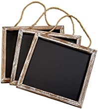 """Barnyard Designs Rustic Distressed Wood Framed Wall Hanging Magnetic Chalkboard Sign - Decorative Display Board for Restaurant, Kitchen, Pantry, Weddings and More 11"""" x 10"""" (3 Pack)"""