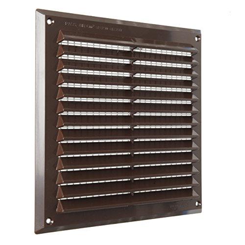 La Ventilazione AR2323M Griglia quadrata in Plastica marrone, da Sovrapporre con rete antisetti. Dimensioni 227x227, 227x227 mm