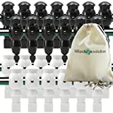 Billiard Evolution 26 White and Black Foosball Men with Free Screws...