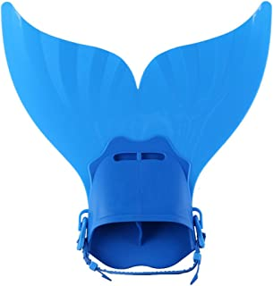 Iusun Mermaid Flippers, Mermaid Monofin Adjustable Mermaid Swim Fin Foot Flipper for Kids Children Swimming Diving Training