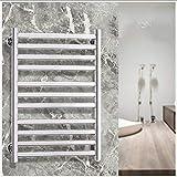 Calentador de toallas, calentador de toallas de acero inoxidable montado en la pared, temperatura constante de inteligencia para el baño del hogar, calentador de toallas eléctrico 73 & times; 50 & t