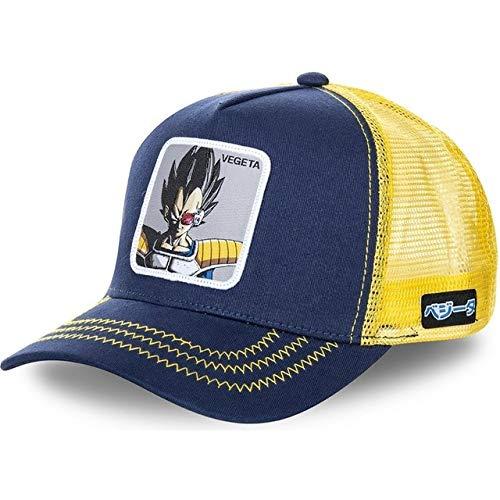 Gorra de béisbol de algodónSnapbackHombres Mujeres Hip Hop Papá Sombrero de Malla Sombrero de Camionero-Vegeta Navy