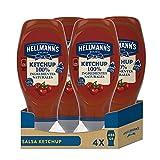 Hellmann's Salsa Kétchup Bocabajo 100% Ingredientes Naturales 430ml - Pack de 4