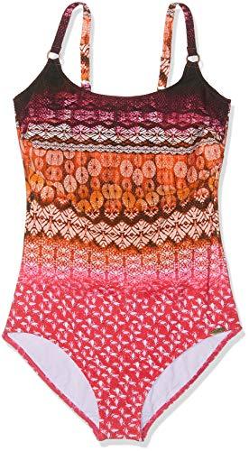 Sunflair Damen Badeanzug, Mehrfarbig (Pink 43), 46 (Herstellergröße: 46E)