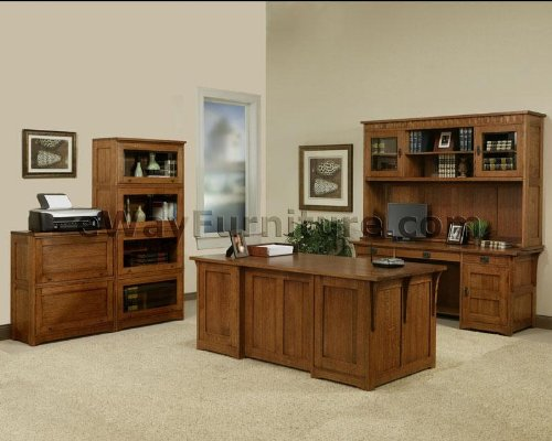 Big Sale 100% Solid Oak Wood Mission Home Office Executive Desk Furniture Made in the USA