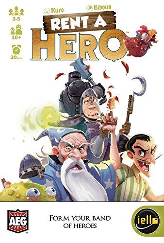 Rent a Hero - Strategisch spel - Een simpel bluf spel waarbij je de tegenstander voor gek moet zet of dwarsboomt - Voor de hele Familie - Taal: Engels