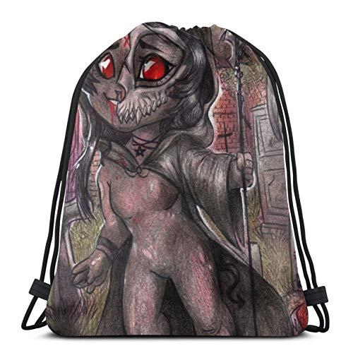 Chibi Furries - Grim Reaper Drawstring Bag Sports Fitness Bag Travel Bag Gift Bag