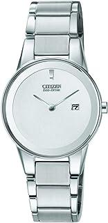 ساعة يد سيتيزن رسمية للنساء - نظام انالوج مع سوار من الستانلس ستيل، GA1050-51A