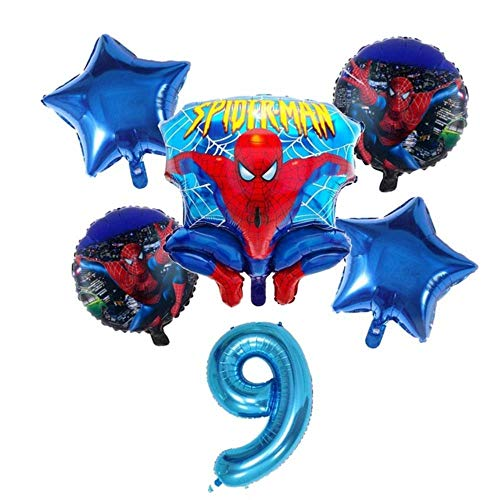 chenn Party Supplies Napkin Set Bowl Tablecloth Cup Knife Fork Spoon Spiderman Birthday Party Decoration Children,5pcs
