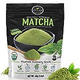 Zulay Organic Matcha Green Tea Powder - USDA Certified, Authentic Japanese Culinary Grade Matcha Tea...