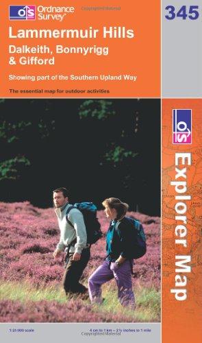 OS Explorer map 345 : Lammermuir Hills