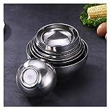 Bol de acero inoxidable 304 cuencos de acero inoxidable de doble grosor de acero inoxidable para niños, cubertería de cocina (tamaño: 12 cm304)
