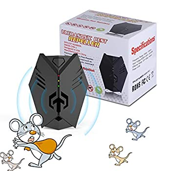HOSOLO Ultrasonic Rodent Repelling Device 2020 Electronic Ultrasonic Plug in Ultrasonic Pest Repeller for Insects Mosquito Mouse Cockroaches Rats Bug Spider Ant Human and Pet Safe