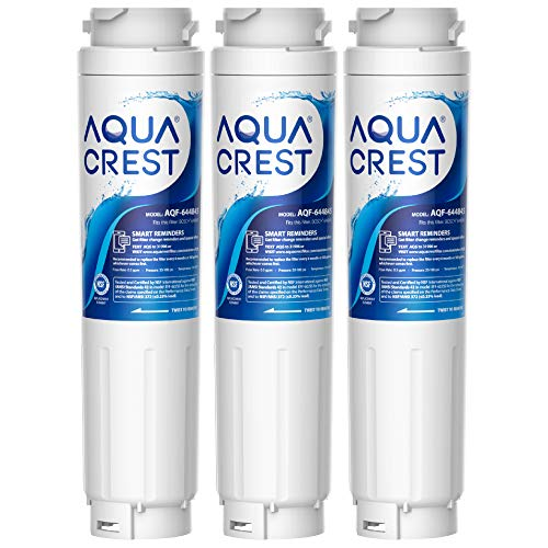 AQUA CREST 9000 077104 UltraClarity REPLFLTR10 Refrigerator Water Filter Replacement for Bosch Ultra Clarity 9000194412, 644845, B26FT70SNS, B22CS80SNS, B22CS50SNS, Haier 0060820860, 3 Pack