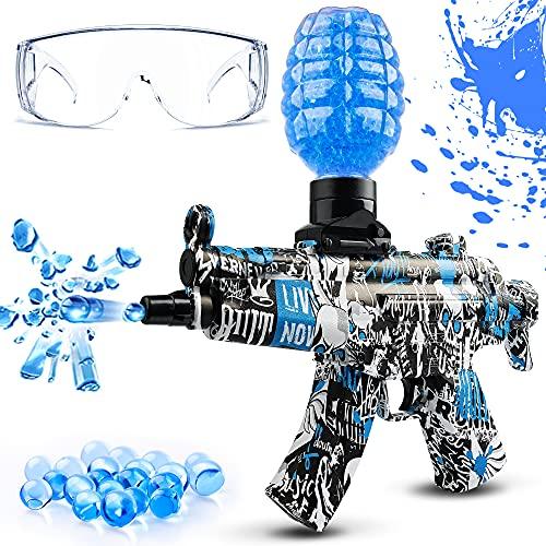 Gel Ball Blaster, Rechargeable Gel Ball Gun with 5000 Gel Balls, Automatic Splatter Ball Gun Shoots...