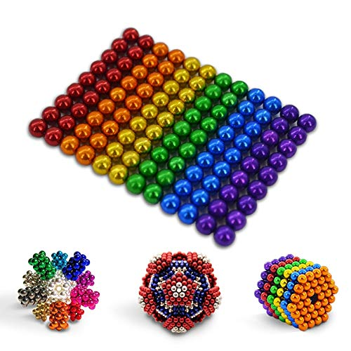 QUCHENG Uñas magnéticas de Pizarra de Oficina Escolar, partículas de Traje de descompresión magnética 3D de Escritorio de Rompecabezas para jóvenes (108 Piezas)