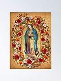 AZSTEEL Póster de Nuestra Señora de Guadalupe Virgen María Católica México 11.7 x 16.5