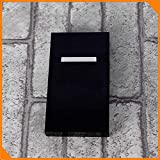 Creatividad Del Nuevo Producto Ms Cigarrillo De Aleación De Aluminio Cajas De Cigarrillo Flip 20 Palitos De Fumar Set Accesorios,Negro