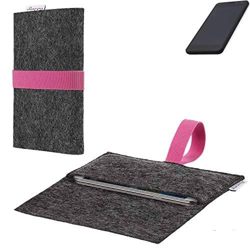 flat.design vegane Handy Hülle Aveiro für Shift Shift5.3 passgenaue Filz Tasche Case Sleeve Made in Germany