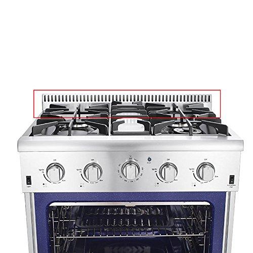 30'Thor Kitchen Stainless Steel Air-vent Island Trim With Gas Range HRG3080U