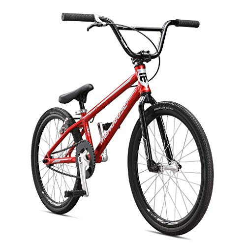 Mongoose Title Expert BMX Race Bike, 20-Inch Wheels, Beginner to Intermediate Riders, Lightweight Aluminum Frame, Internal Cable Routing, Red