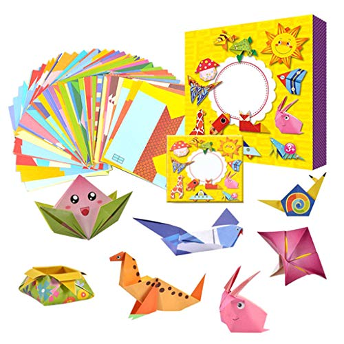 B Blesiya Clasificando Origami 108 Piezas Accesorios de Madera Montessori para Niños, Niños Pequeños
