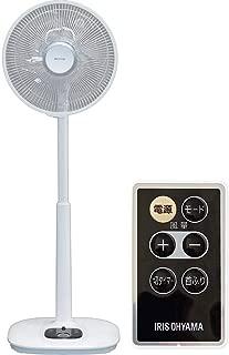 アイリスオーヤマ 扇風機 リビング扇風機 首振り 風量12段階 静音 DCモーター タイマー付 リモコン付 ハイタイプ ホワイト LFD-305H