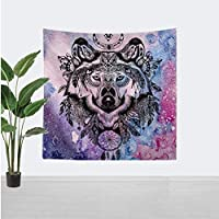 Boho Tarot Sun and Moon Tapestry Wall Hanging Decor Chakra Carpet Abstract Wall Cloth Wolf Tapestries 150x150cm