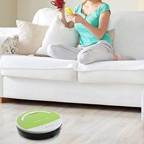 Pure Clean Smart Robotic Vacuum - Automatic Floor Cleaner - Pyle PUCRC15
