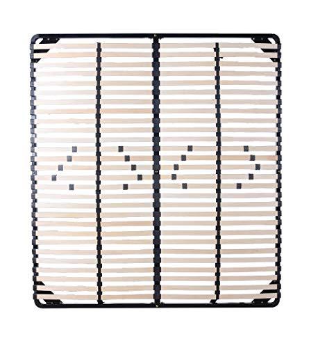 Moments of Glass Somier Negro multiláminas con reguladores lumbares (SIN Patas) Metalizado anticorrosion Varias Medidas (200x200)