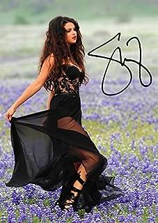 Selena Gomez Flowers (11.7 X 8.3) Signed (Pre-print Autograph) Pop Singer Artist Print