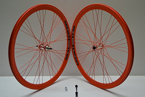 Cicli Ferrareis Ruote Cerchi 28 Fixed Single Speed Scatto Fisso Vintage 700x23 raktor gipiemme 1v Arancio