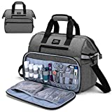 CURMIO Home Health Nurse Bag, Medical Supplies Bag with Padded Laptop Sleeve for Home Visits, Health Care, Hospice, Bag ONLY, Gray (Patented Design)