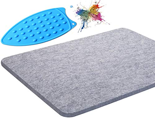 """Wool Pressing Mat - 100% Wool Ironing Pad for Quilters,Designed for Quilting,Sewing,Pressing Seams,Embroidery,Patchwork,and Other DIY Crafts,17""""x13.5"""",Perfect Gift for Mom, Mother, Wife"""