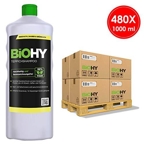 BIOHY tapijtshampoo concentraat 1 liter fles - pallet (480 stuks)
