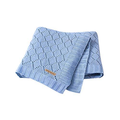 mimixiong Besonders Weiche Babydecke/Kuscheldecke, 80cm x 100cm(Blau)