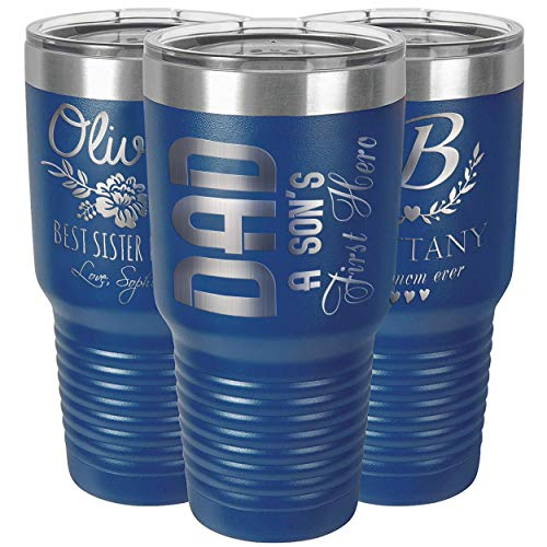 Vasos personalizados, vaso de acero inoxidable de 30 onzas, tazas personalizadas, taza...