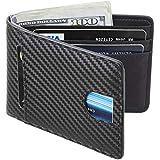 Casmonal Mens Leather Wallet Slim Front Pocket...