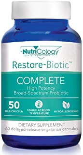 NutriCology Restore-Biotic Complete 60 Delayed-Release Vegetarian Capsules