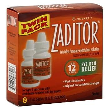 NOVARTIS PHARMACEUTICAL Zaditor Eye Itch Relief 5ml 0.17OZ each  2 Count