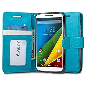 J&D Case Compatible for Moto Droid Turbo 2 Case Moto X Force Case [Wallet Stand] [Slim Fit] Heavy Duty Protective Shockproof Flip Wallet Case for Motorola Moto Droid Turbo 2  Verizon  Wallet Case