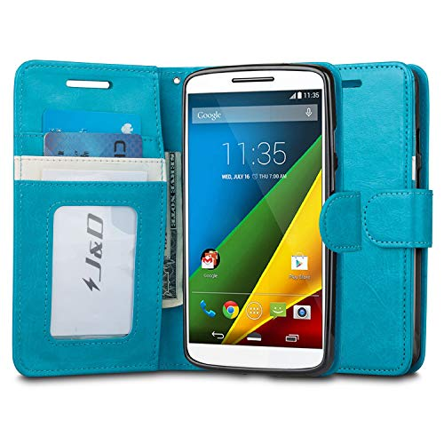 JundD Schutzhülle kompatibel für Moto Droid Turbo 2, Moto X Force Hülle, [Wallet Stand] [Slim Fit] Heavy Duty Protective Shockproof Flip Wallet Hülle für Motorola Moto Droid Turbo 2 (Verizon) Wallet Hülle