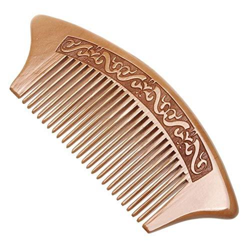 LJK 1 Pc Peigne en Bois De Pêche Fermer Les Dents Anti-Statique Massage De La Tête Outils De Soins des Cheveux, Bleu Clair