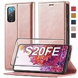 2021 Upgraded S20 FE Handyhülle für Samsung Galaxy S20 FE Hülle Leder [Standfunktion] [Kartenfach] für Samsung S20 FE 5G Hülle Leder, Etui Flip Schutzhülle Stoßfeste Hülle für Samsung S20 FE Klapphülle