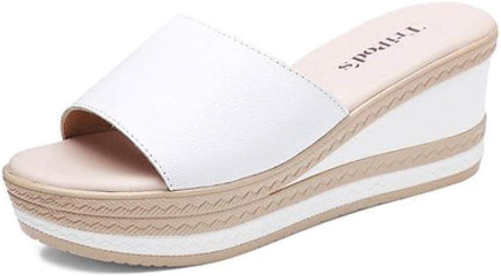 CYBLING Women's Platform Slide Sandals Comfortable Peep Toe Slip On Summer Wedge Slippers