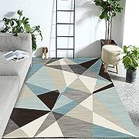 カーペット ショートパイル モダンなトレンディなパステル幾何学的なインスピレーションマルチカラー、 クリスタルベルベット、 洗える、 ダイニングルーム、寝室、子供部屋用、 180x250 Cm LLGHT (Color : 1, Size : 160×230CM)