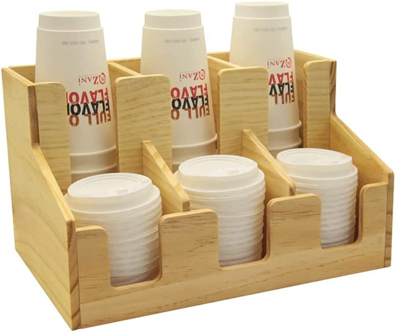 Product LSJTY 6 Compartment Cup Holder Wooden Paper Dispenser Seattle Mall Coff